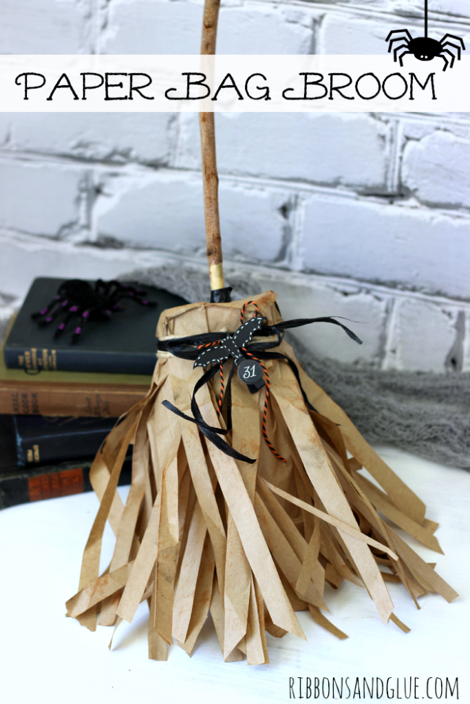 Halloween Paper Bag Broom