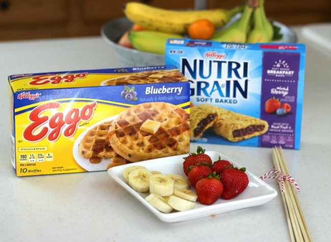 Kellogg's Eggo Waffles and Nutri-Grain Bars make an quick and easy breakfast.