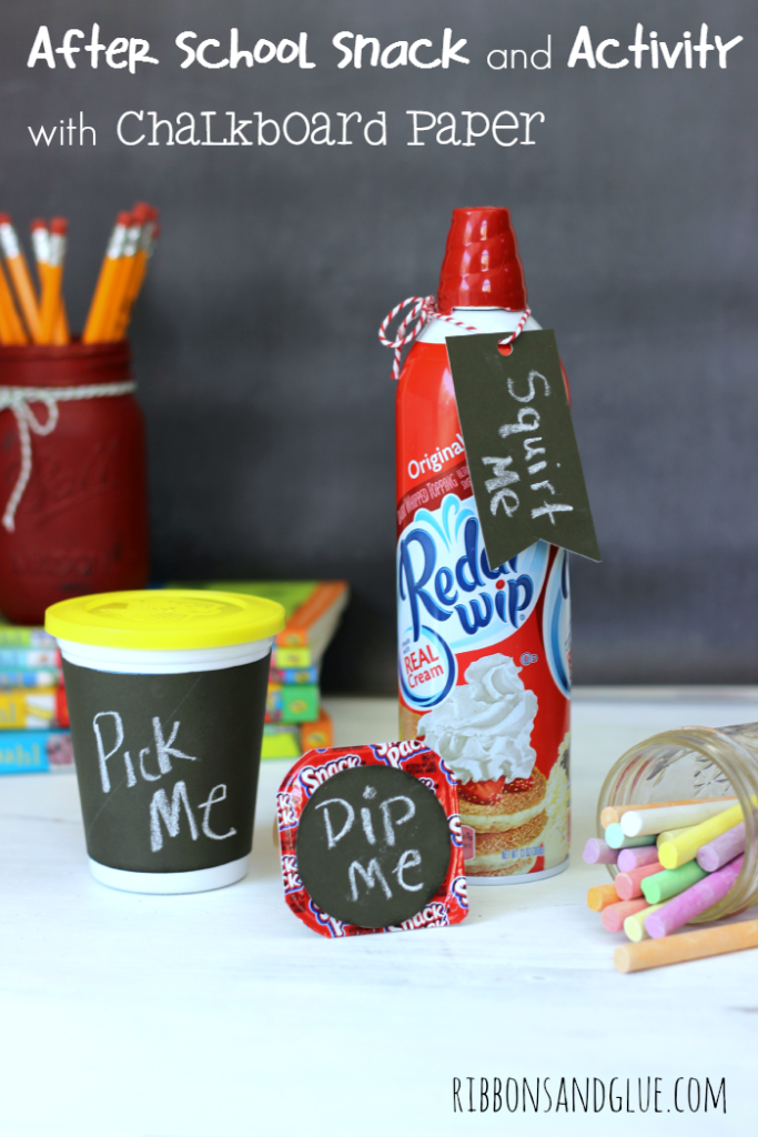 After School Activity and Snack idea using Chalkboard Paper. Let the kids play with their food! #SnackAndGo