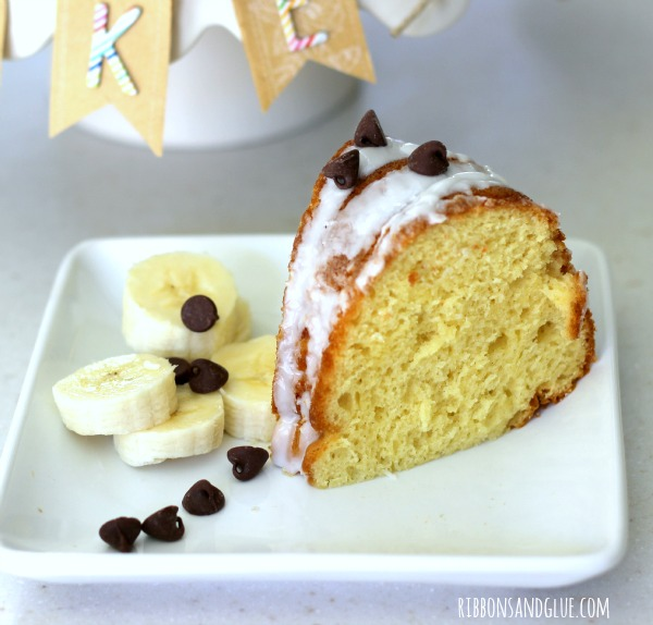 Moist and delicious Banana Bundt Cake. Such a simple recipe!