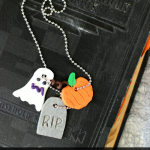 Halloween Clay Neccklace