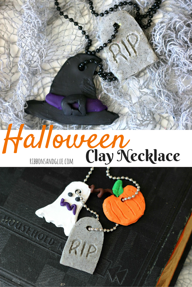 Halloween Clay Necklace