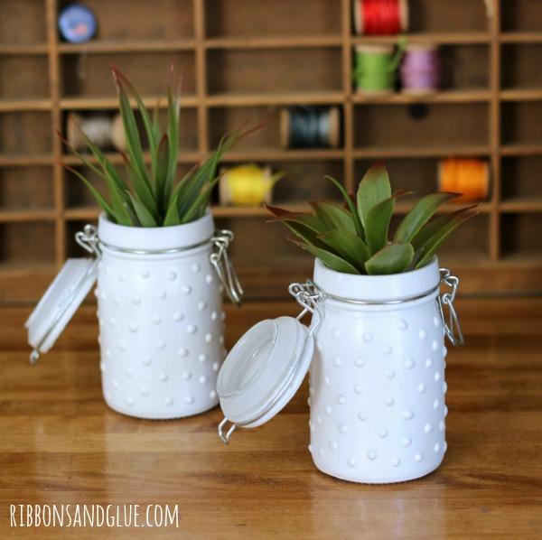 Tutorial on how to make DIY Milk Glass. Easy to make sooo pretty!