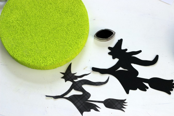 Silhouette Witch and Boojm cut file looks so cool on a foam Moon
