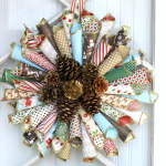 Christmas Paper Cone Wreath
