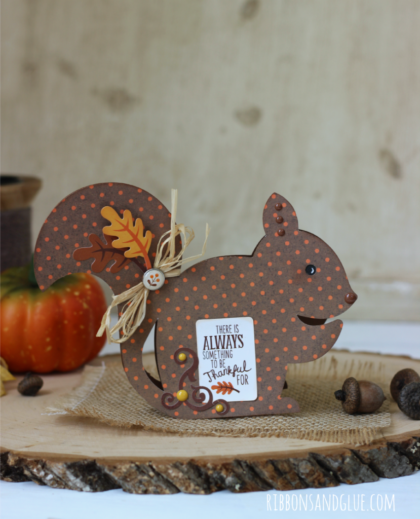 Fall Chipmunk Card made with Silhouette cut file and Fall papers and embellishments