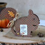 Fall Chipmunk Card made with Silhouette