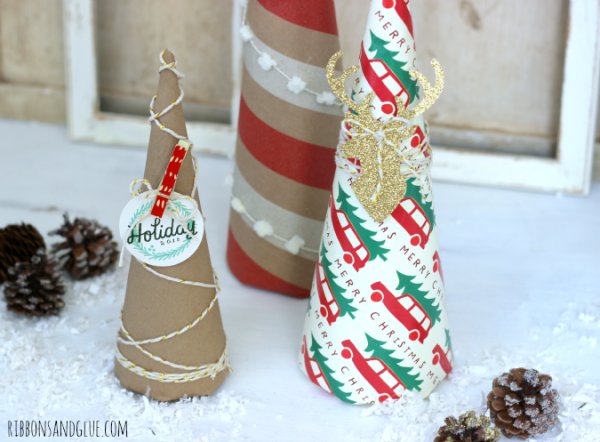 . Wrapping paper is such a in expensive way to add unique projects in to your Holiday Decor.