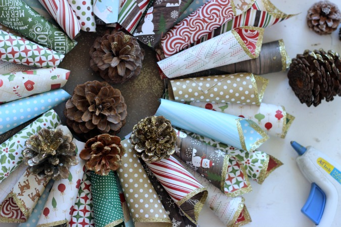 How to make a Christmas Paper Cone Wreath