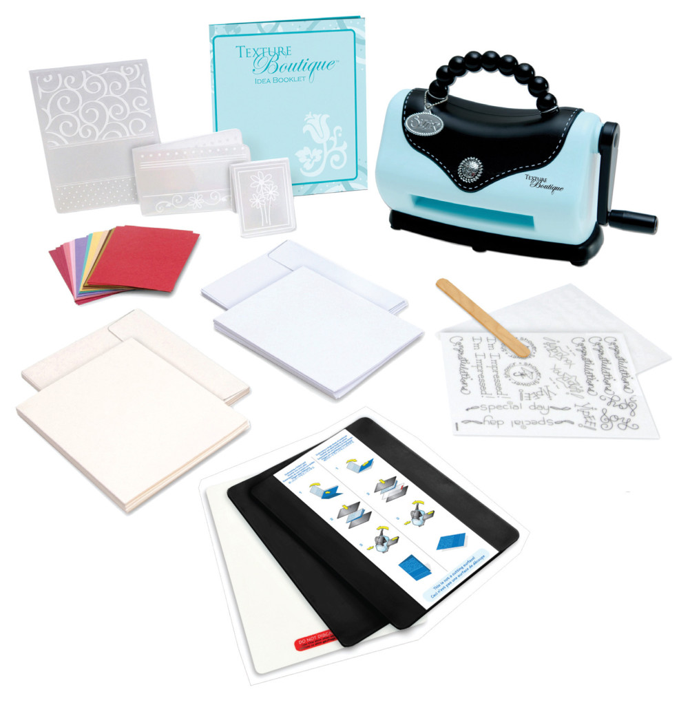 Gift Idea for Crafters: Sizzix Texture Boutique is a creative way to add simple texture and design on to paper projects