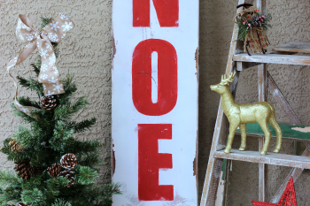 DIY Noel Sign made from a painted board