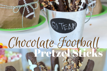 Easy Chocolate Football Pretzel Sticks