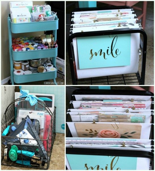 How to organize craft items.