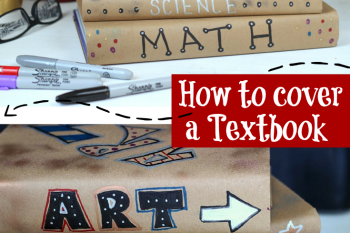 How to cover Textbooks DIY
