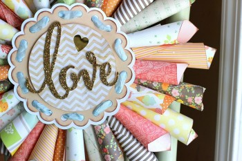 Pretty Paper Cone Love Wreath