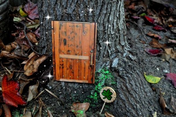 Lucky Wood Projects Ideas for St. Patrick's Day-Leprechaun Door