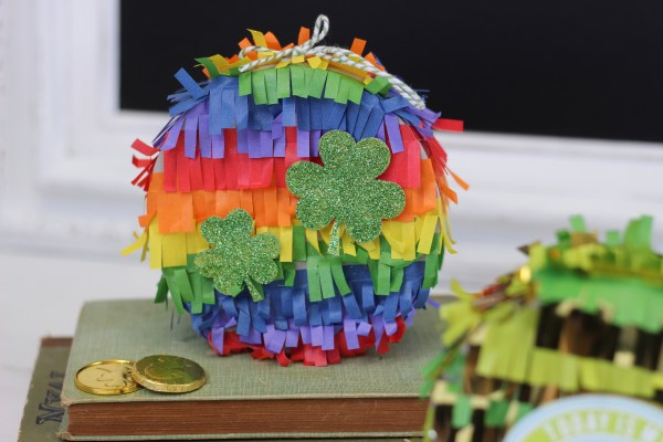 We R Memory Keepers DIY Party Mini Pinatas. Rainbow Pinata for St. Patrick's Day