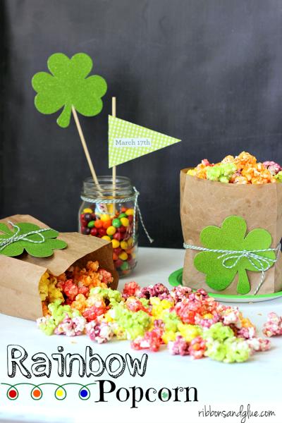 St. Patrick's Day Rainbow Popcorn