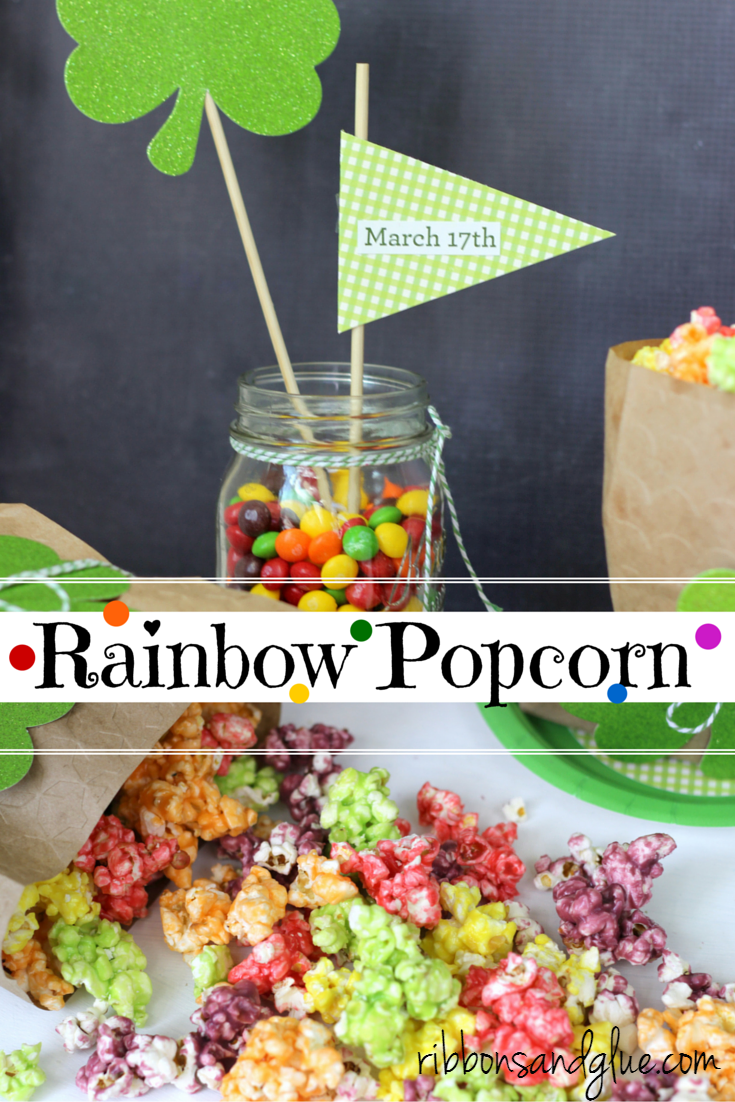 How to make St. Patrick's Day Rainbow Popcorn. Easy recipe to Taste the Rainbow!