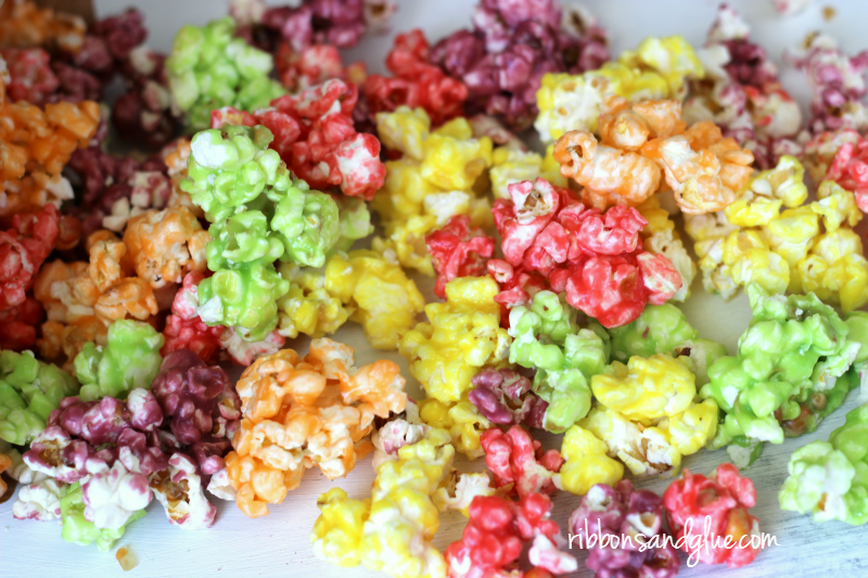 Skittles Rainbow Popcorn. Each flavor is like Tasting the Rainbow!