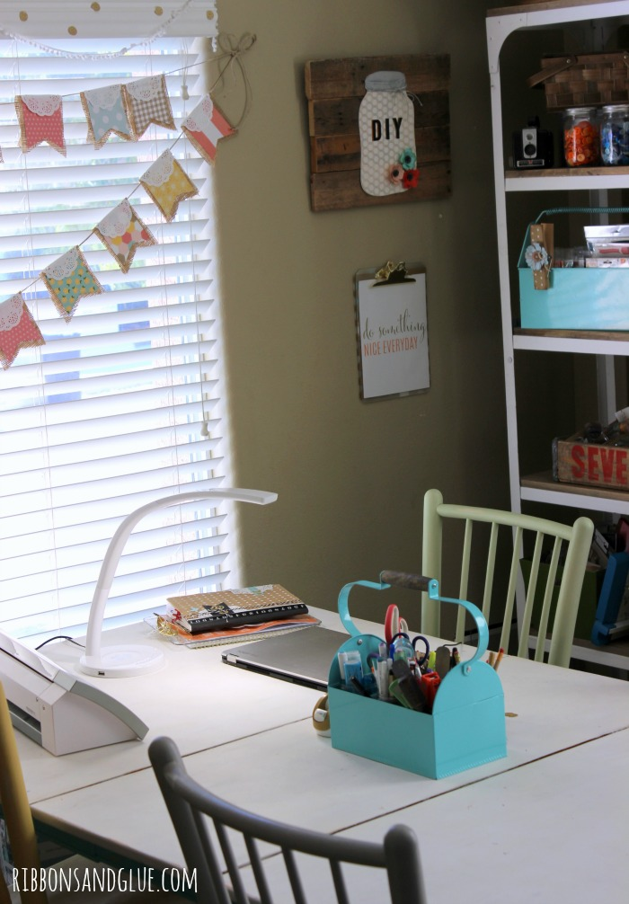 Ribbons and Glue Blog Vintage Inspired Craft Room .