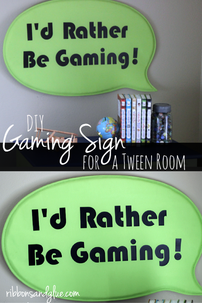 DIY Rather Be Gaming Sign