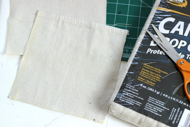 Drop Cloth bag Cut