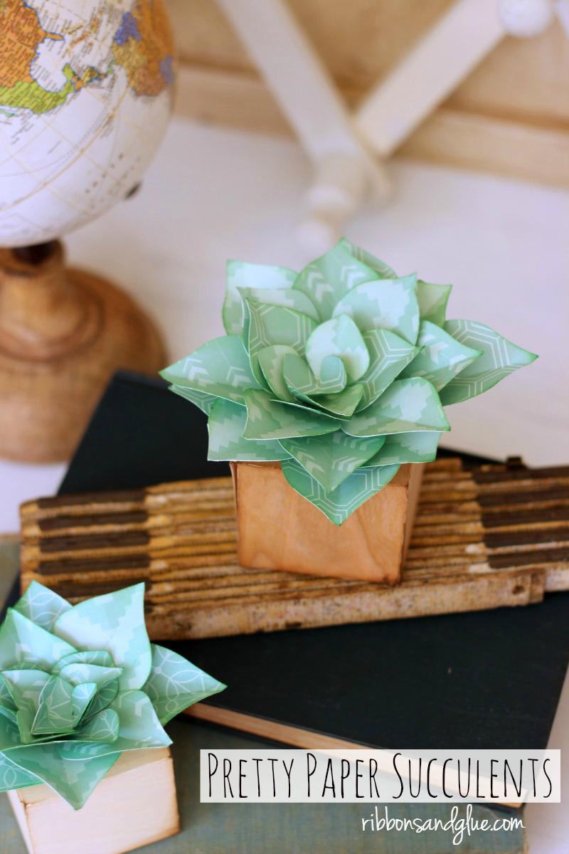 Faux Paper Succulents