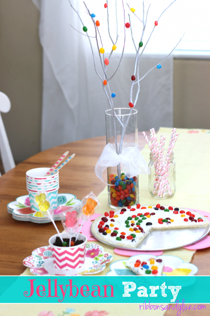 =Throw a fun Jellybean Party this Easter by creating a Jellybean Tree, Jellybean Dessert Pizza and planting magical Jellybean seeds. #StarburstJellybeans #Kroger