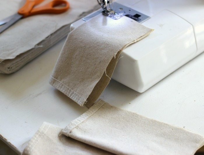 How to sew coin bags out of drop cloths