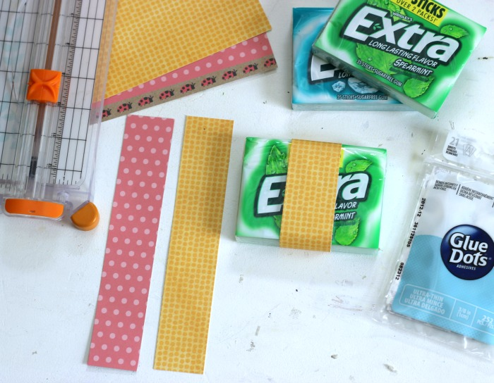 How to make a Belly band to embellish a pack of gum