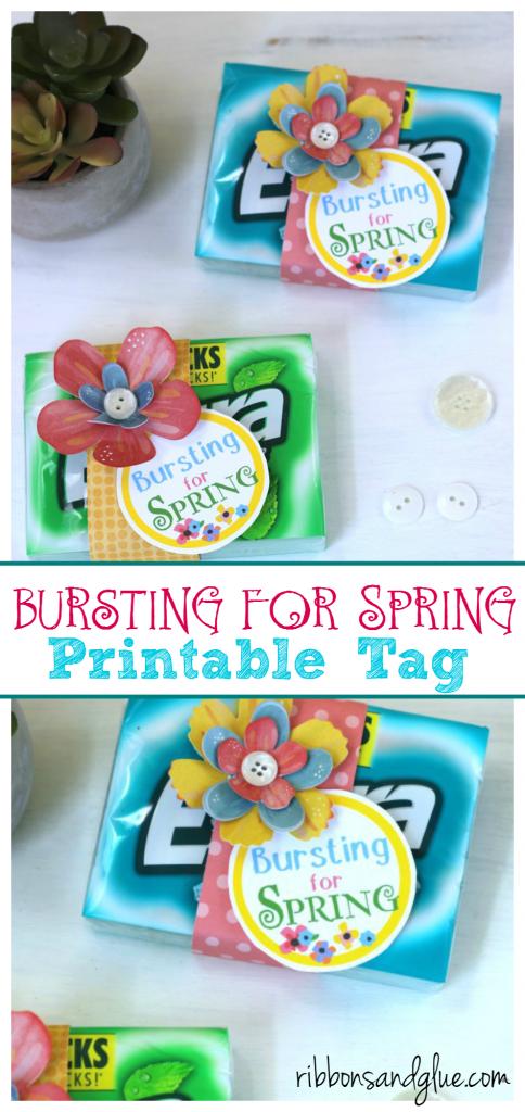 Bursting For Spring Gum Printable Tag