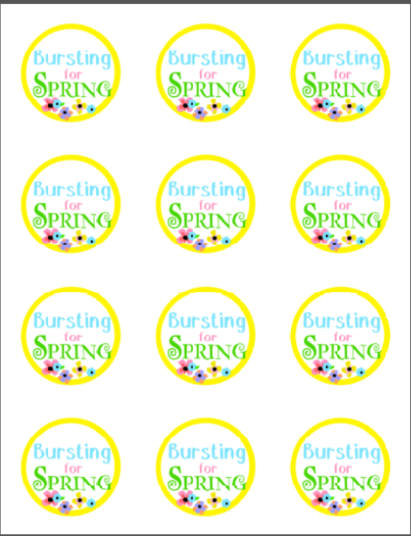 picture relating to Free Printable Tags called Bursting for Spring Present Thought with Cost-free Printable Tag