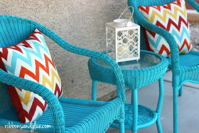 DIY Front Porch Bistro Set Makeover