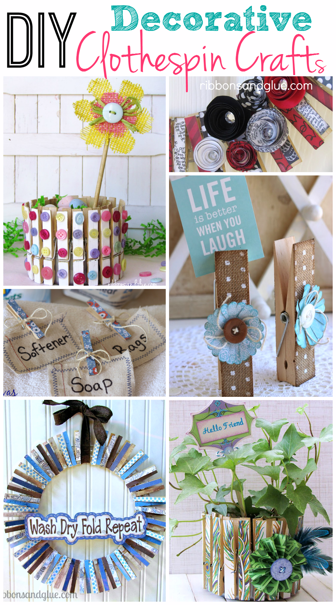 Diy Decorative Clothespin Crafts