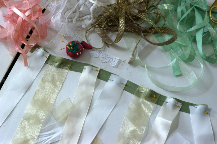 How to make a DIY Shabby Chic Ribbon Flag.