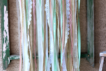 How to make a Shabby Chic Ribbon Flag