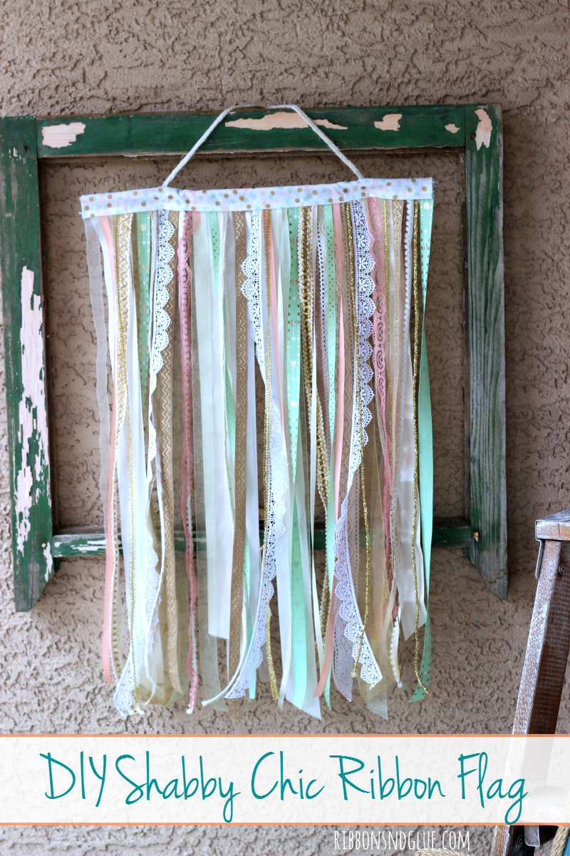Shabby Chic Ribbon Flag