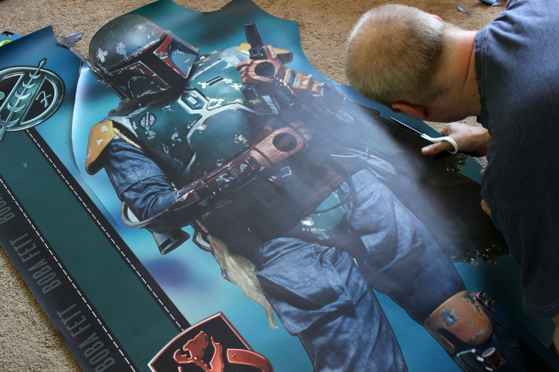 Star Wars Boba Fett @Fatheaddecals #PeelStickDone