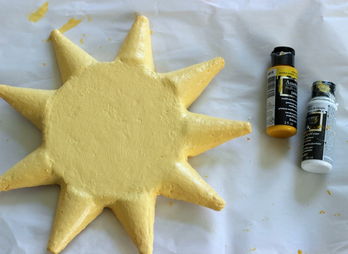 How to make a faux sun out of painted foam