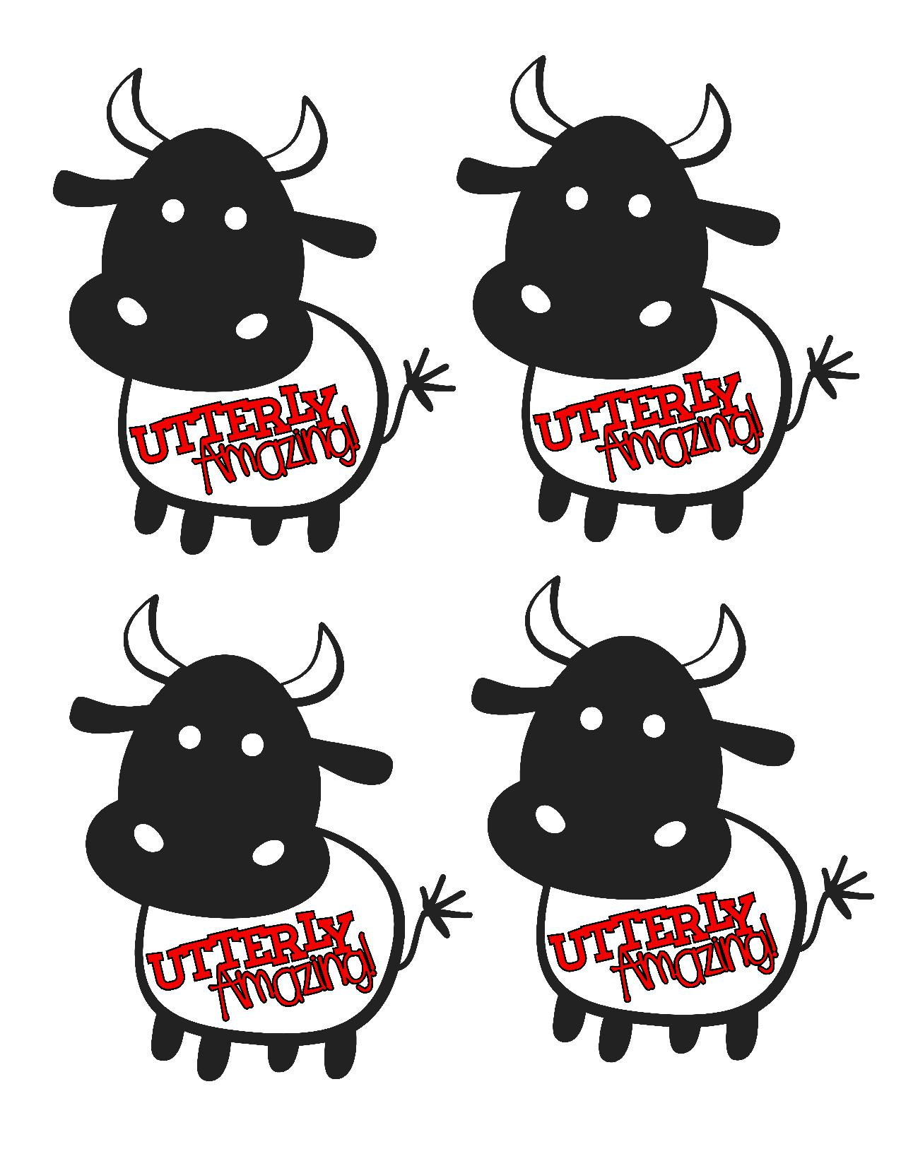 Utterly Amazing Cow Treat Bag Printable