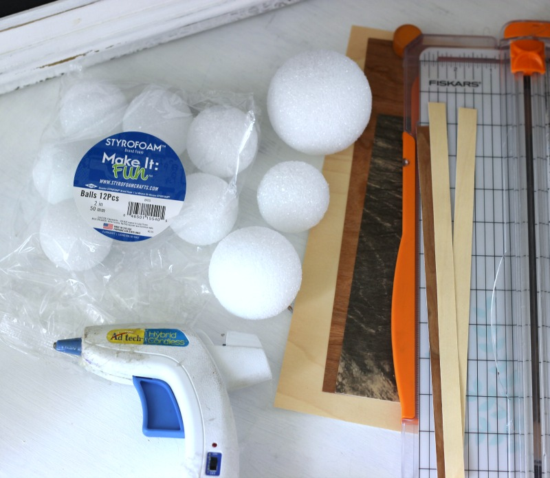 How to make decorative wood balls using wood veneer paper and foam