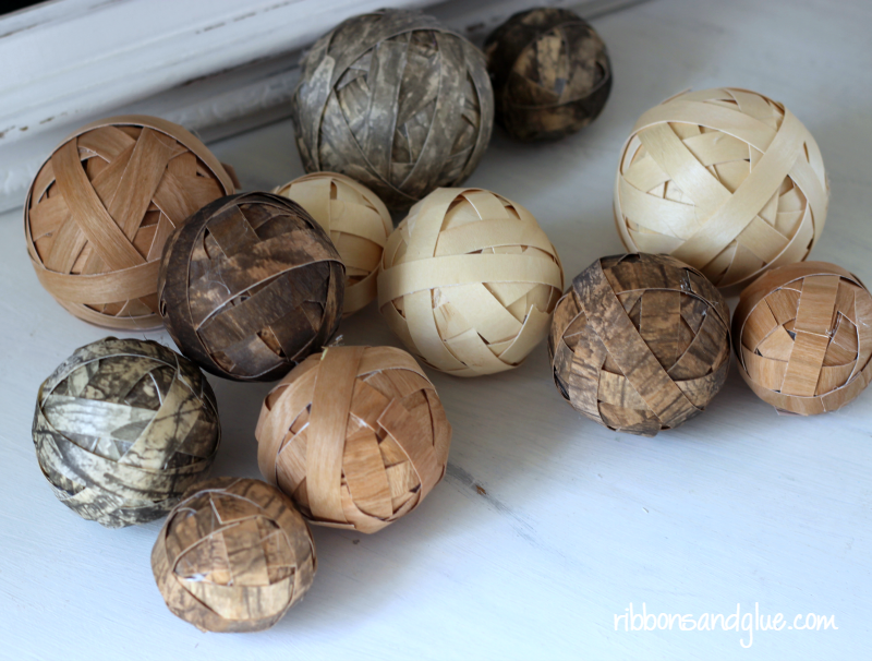 How To Make Decorative Balls Glamorous Decorative Wood Ball Centerpiece Decorating Inspiration