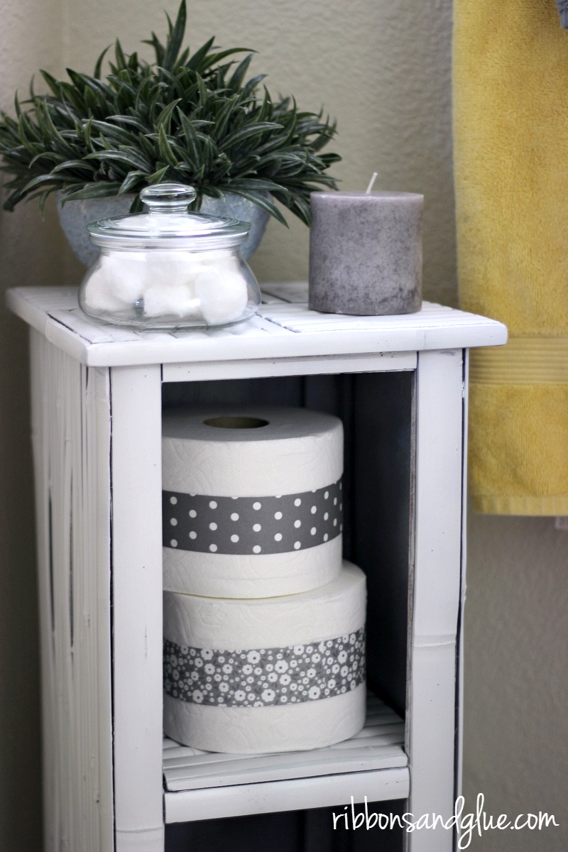 Give your Guest Bathroom a Refresher by making the toiler paper fancy. It's the small details that really make a guest feel at home.