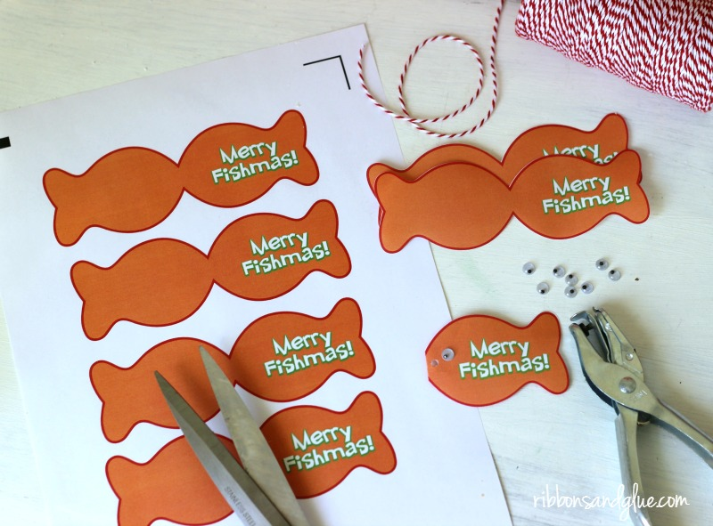 Merry Fishmas Printable Tags