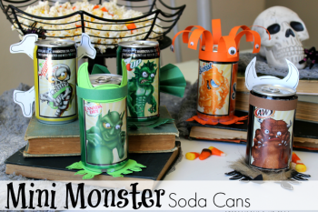 Halloween Mini Monster Soda Cans