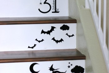 Halloween Vinyl Staircase