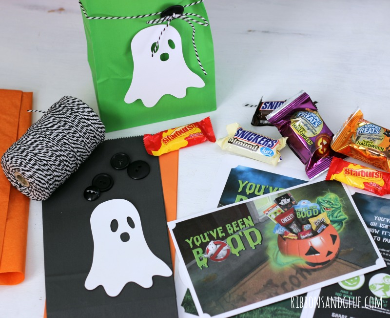 Glow in the Dark BOO Kit made with glow in the dark heat transfer vinyl and free BOO'd printable.