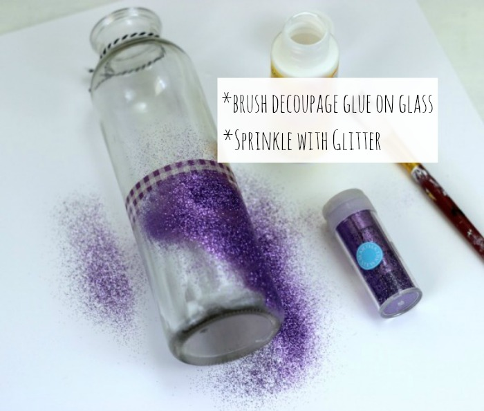 How to make Halloween Candy Glitter Jars with decoupage glue