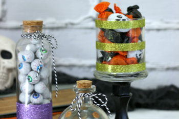 DIY Halloween Candy Glitter Jars